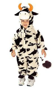 Lil Moo Cow Plush Black White Dairy Farm Animal Toddler Costume Size
