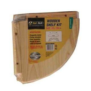 20 X 20cm PINE WOOD WALL MOUNTED CORNER SHELF STORAGE WOODEN SHELVES