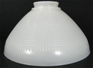Vintage Corning Milk Glass White 10 Torchiere Lamp Light Shade Waffle