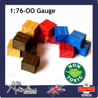 Small Wooden Crates 1:76 – OO Gauge for Model Railway Layouts