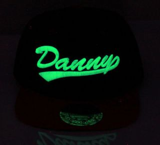 CITY HUNTER CUSTOM HAT CREATE YOUR OWN NAME GLOW IN THE DARK SNAPBACK