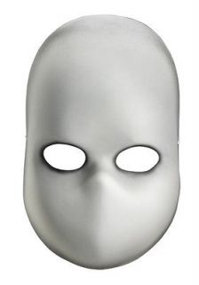 Creepy White Blank Doll Face Adult Halloween Costume Mask