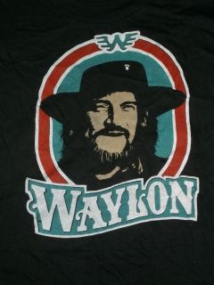 VTG 1980s Waylon Jennings T Shirt S Small Country Music DEADSTOCK