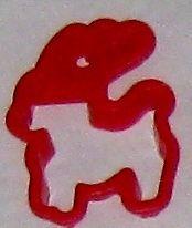 Red 2 1/2 TCM Deer Cookie Cutter Art Mold