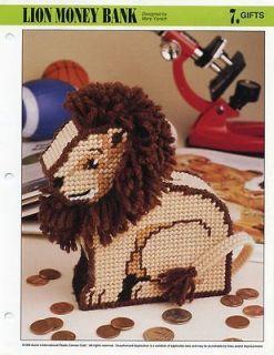 Lion Money Bank Leo Annies Plastic Canvas Pattern  30 Days To Shop