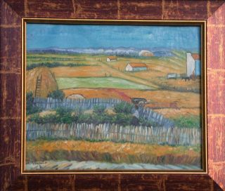 COUNTRY FARM IN FRANCE Oil Painting Framed
