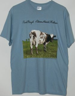 Pink Floyd Atom Heart Mother cow album cover blue T Shirt tee