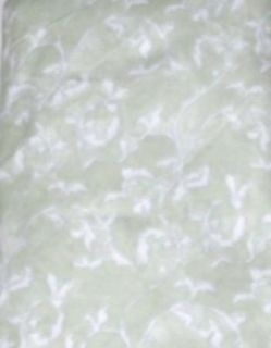 Sage Green Ivy Fabric Shower Curtain Soft Touch