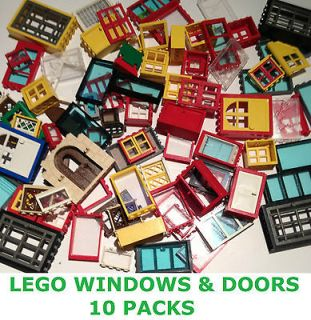 LEGO 10 x House Windows & Doors Bundle Lots   City / Police / Fire ETC