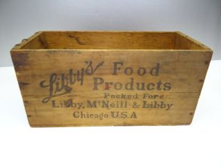 Libbys Food Products Chicago USA Corned Beef Wood Wooden Box Crate