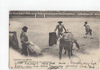 Corrida de Toros Mazzantini Despues de une Estocada 1907 Postcard