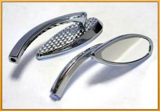CHROME MINI TEARDROP MIRRORS FOR HARLEY/METRIC CRUISERS