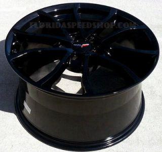 Corvette Gloss Black Centennial Cup Style Wheels 18/19 Combo C5 1997