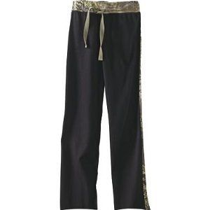 OFFICIALLY LICENSED REALTREE GIRL BLACK LOUNGE PANTS WITH MAX 1 STRIPE