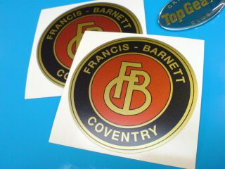 FRANCIS BARNETT of Coventry Gold Classic Motorcycle Stickers Decals