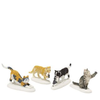Dept 56 Dickens Village STRAY CAT STRUT s/4 mib NEW