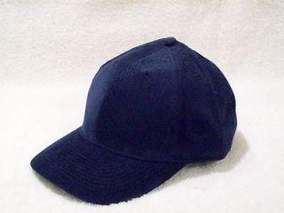 BLUE CORDUROY CAP HAT LOW PROFILE STRUCTURED CROWN OTTO CAP 19 059