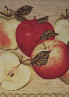 Fashioned country apples apple 36l tiers valance kitchen curtains set