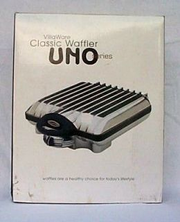 VILLAWARE UNO* Classic 4 Thin Waffle Maker Baker Iron V2001 C
