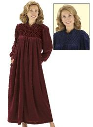 Long Zip Front Robe womens velour new navy 2X (20W 22W),