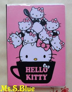 Hello Kitty cat pink cup A6 weekly 2013 schedule book diary planner