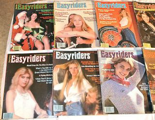ALL 12 1980 Easyriders Magazines, David Mann Centerfolds