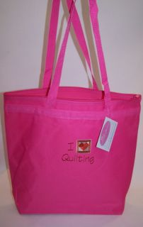 Heart Quilting & Craft Quilt Square Large Craft Storage Zipper Tote