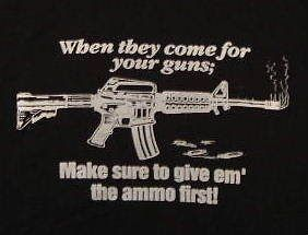 SHIRT GUN CONTROL AR 15 WITH JEFFERSON QUOTE, BLACK