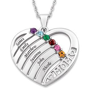 personalized mother pendant