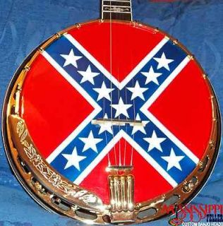 CONFEDERATE BANJO HEAD   OR ANY CUSTOM DESIGN!