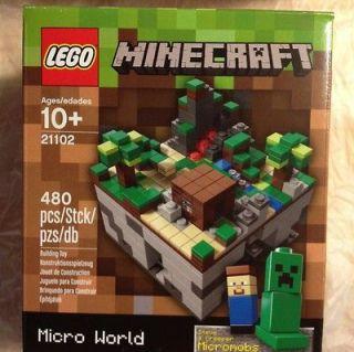MINECRAFT LEGO 21102 Micro World 480 Pcs/Stck/pzs/db Steve & Creeper