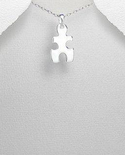 Piece Autism Awareness Sterling Silver Small Pendant Necklace II
