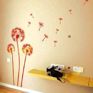 Sweet Home Removable HD Dandelion Flower in the wind Wall Sticker Art
