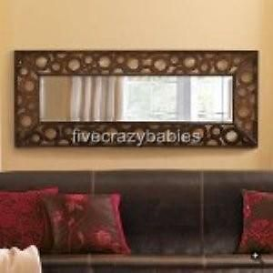 Extra Long Wide Contemporary Wall Mirror Modern Large Circles Neiman