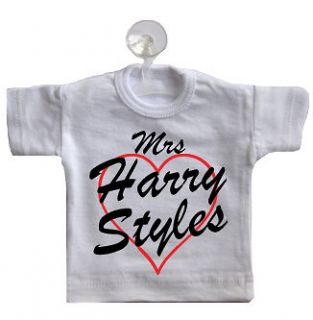 Mrs Harry Styles Mini T Shirt For Car Window Sticker