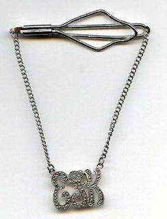 Art Deco K D Kimler Daniel Sterling Marcasite Tie Slide Bar Chain EFK
