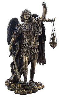 ARCHANGEL ST MICHAEL HOLDING SCALES Guardian Angel Patron Saint Statue