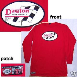DAYTON WIRE WHEELS SINCE 1916 RED L/S SHIRT 5XL EXTRA TALL NEW