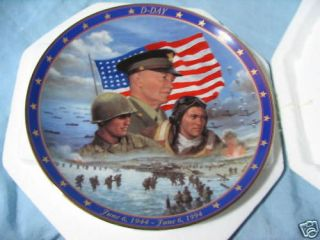 DAY COLLECTOR PLATE World War II A Remembrance