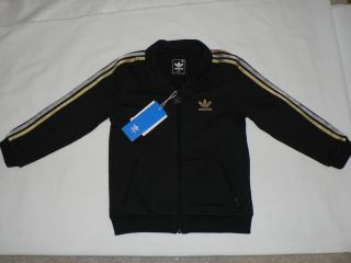 Adidas Toddlers sweatsuit jacket pants new black
