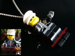 POLICE LEGO NECKLACE LAW ENFORCEMENT CHRISTMAS GIFT