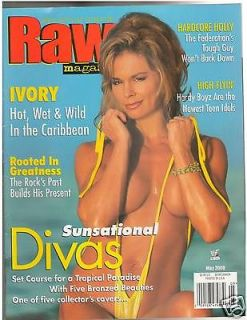 WWE WWF RAW IVORY Sunsational Divas female wrestling magazine 5 00