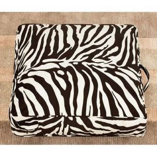 Surefit Black And White Velvet Zebra Print Floor Pillow