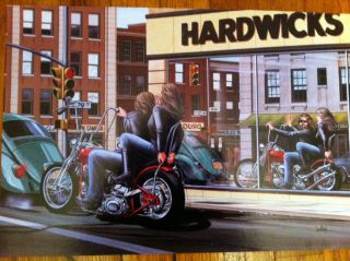 David Mann Art Pride Goeth Before A Butt Show Print Harley Davidson