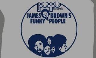 PEOPLE RECORDS T SHIRT JAMES BROWN SOUL FUNK JBS 45