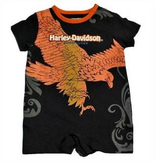 Harley Davidson Baby Infant Romper BodySuit One Piece   Boys  12M 18M