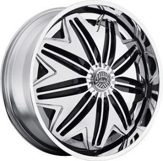 24 DAVIN REVOLVE SPINNERS PWRFL WHEEL SET 24x9.0 RIMS 5   6 Lug