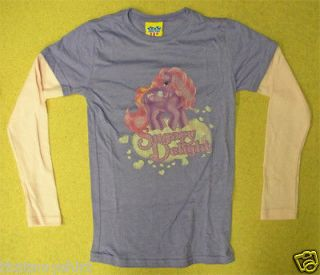 New Authentic Junk Food My Little Pony Sugary Delight 2fer Girls Shirt