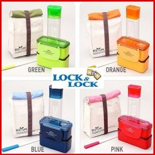 Bento Lunch Box Set w/Bottle Chopstics Insulated Bag