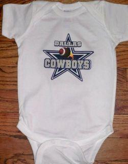 DALLAS COWBOY FOOTBALL BABY INFANT ONESIE CLOTHES 12 24